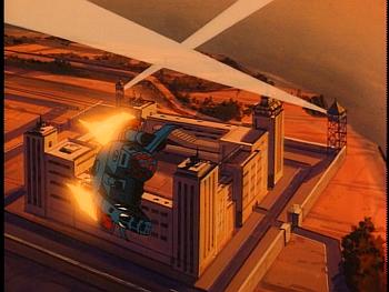 Disney Gargoyles - Leader of the Pack - pack airship takes off leaves prison