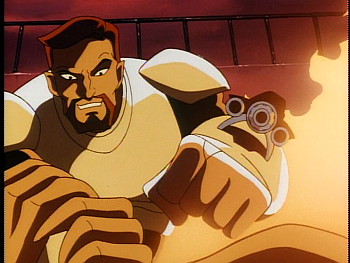Disney Gargoyles - Leader of the Pack - xanatos coyote aiming laser at goliath