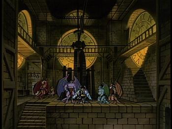 Disney Gargoyles - Legion - clan puts coldstone in clocktower