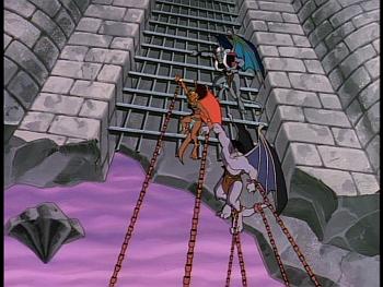 Disney Gargoyles - Legion - desdemona saves goliath from virus