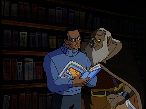 Disney Gargoyles - Lighthouse in the Sea of Time - robbins reads phone book