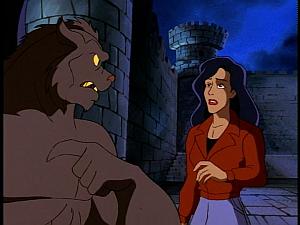 Disney Gargoyles - Metamorphosis - derek crosses heart