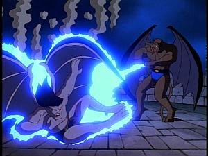 Disney Gargoyles - Metamorphosis - derek talon electrocutes goliath