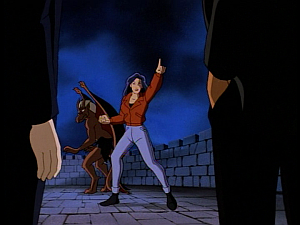 Disney Gargoyles - Metamorphosis - elisa angry at xanatos