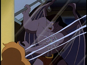 Disney Gargoyles - Metamorphosis - goliath breaks maggies cage glass