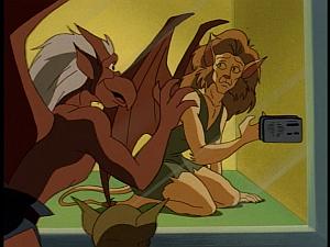 Disney Gargoyles - Metamorphosis - maggie in cage lex brooklyn