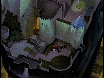 Disney Gargoyles - Metamorphosis - wyvern castle eyrie building xanatos helicopter