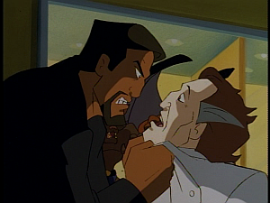 Disney Gargoyles - Metamorphosis - xanatos gets in sevarius's face