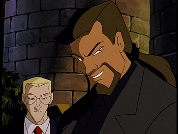 Disney Gargoyles - Metamorphosis - xanatos smiles with owen