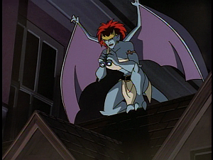 Disney Gargoyles - The Mirror - demona watches
