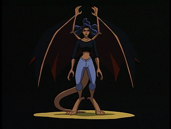 Disney Gargoyles - The Mirror - elisa as a gargoyle