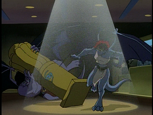 Disney Gargoyles - The Mirror - goliath saves statue from demona