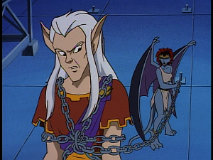 Disney Gargoyles - The Mirror - puck on a chain demona