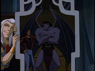 Disney Gargoyles - The Mirror - puck with goliath and elisa in mirror