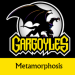 Disney Gargoyles logo with Goliath metamorphosis