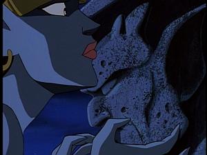 Disney Gargoyles - City of Stone part 1 - demona kisses stone goliath