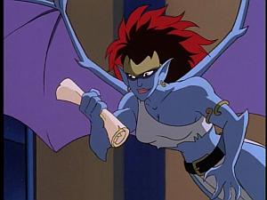 Disney Gargoyles - City of Stone part 1 - demona with spell scroll