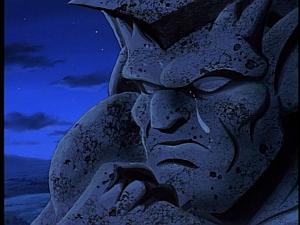 Disney Gargoyles - City of Stone part 1 - demona's tear on stone goliath