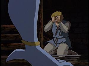 Disney Gargoyles - City of Stone part 1 - gillecomgain face slashed