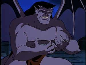 Disney Gargoyles - City of Stone part 1 - goliath cries over rubble angel of the night