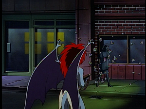 Disney Gargoyles - City of Stone part 2 - demona shoots arms off statue