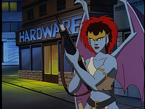 Disney Gargoyles - City of Stone part 2 - demona with laser rifle