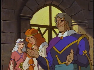 Disney Gargoyles - City of Stone part 2 - gruoch sad at her wedding to gillecomgain