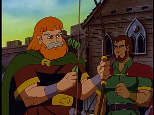 Disney Gargoyles - City of Stone part 2 - macbeth talks to brodhe about gruoch