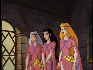 Disney Gargoyles - City of Stone part 2 - weird sisters as brides maids