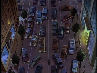 Disney Gargoyles - City of Stone part 2 - xanatos walks off through traffic jam