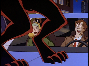 Disney Gargoyles - Eye of the Beholder - fox on margo and brendan's car