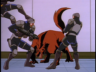 Disney Gargoyles - Eye of the Beholder - fox takes on bruno security
