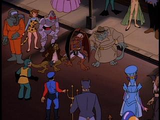 Disney Gargoyles - Eye of the Beholder - trio in halloween costume