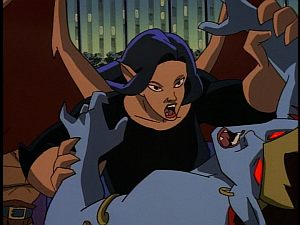Disney Gargoyles - The Mirror - demona and elisa fight