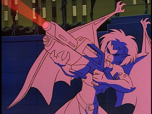 Disney Gargoyles - The Mirror - demona fires laser