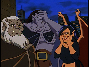 Disney Gargoyles - The Mirror - goliath face palm