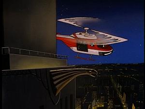 Disney Gargoyles - The Silver Falcon - chopper by building