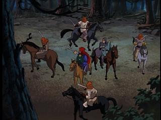 Disney Gargoyles - Vows - bandits attack