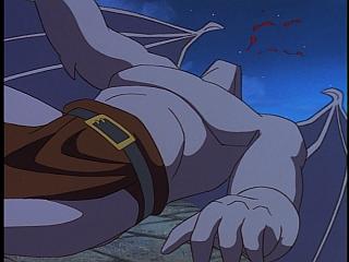 Disney Gargoyles - Vows - demona kicks goliath