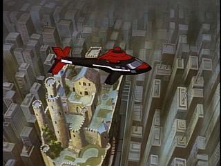 Disney Gargoyles - Vows - eyrie building castle and xanatos chopper
