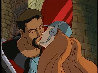 Disney Gargoyles - Vows - fox and david xanatos kiss