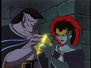 Disney Gargoyles - Vows - goliath and demona join phoenix gate