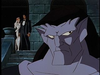 Disney Gargoyles - Vows - goliath angry, fox and david in background