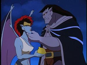 Disney Gargoyles - Vows - goliath holds demona's chin