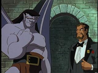 Disney Gargoyles - Vows - goliath holds wedding ring, xanatos smiles