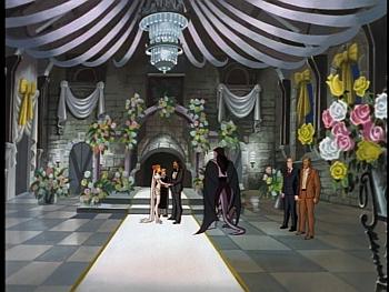 Disney Gargoyles - Vows - great hall decorated for Xanatos wedding