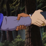 Disney Gargoyles - Vows - xanatos and norman ambassardor shake hands