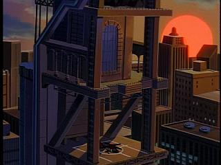 Disney Gargoyles - City of Stone part 1 - back if eyrie building, helipad