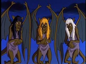 Disney Gargoyles - City of Stone part 1 - crone weird sisters gargoyles