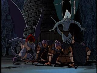 Disney Gargoyles - City of Stone part 1 - demona attacks guards